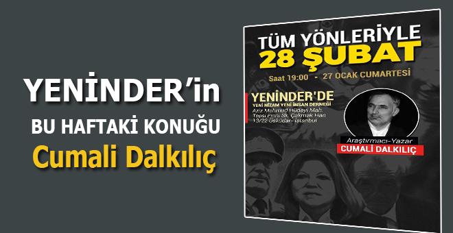 YENİNDER'in bu haftaki konuğu araştırmacı yazar Cumali Dalkılıç!