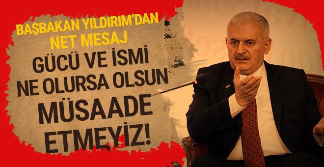 """Başbakan Yıldırım: """"Bu açık bir düşmanlıktır. Türkiye bu kepazeliğe, bu aymazlığa müsaade etmez!"""""""