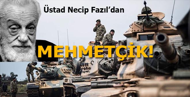"Üstad Necip Fazıl'dan; ""Mehmetçik"" kimdir?"