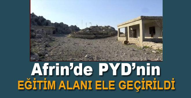 Afrin'de teröristlerin eğitim alanı ele geçirildi!