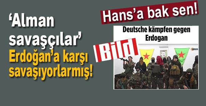 """""""Hans""""a bak sen; """"Alman savaşçılar"""" Erdoğan'a karşı savaşıyorlarmış!"""