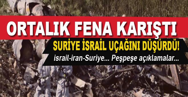 Suriye, İsrail jetini düşürdü, ortalık karıştı!