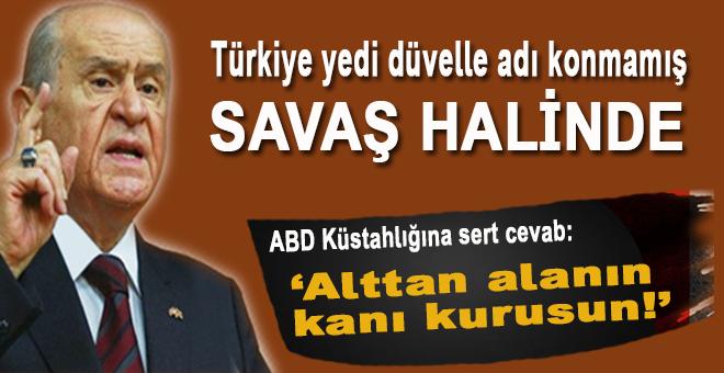 """Bahçeli: """"Herkes ayağını denk alsın, kimse Türk milletine Menbiç'ten parmak sallamaya kalkışmasın!"""""""