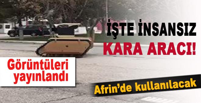 Yerli insansız kara aracının ilk görüntüleri paylaşıldı!
