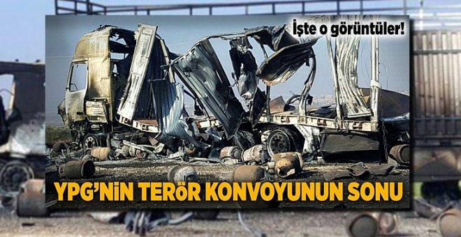 İşte Afrin'e girmeye çalışan 40 araçlık terör konvoyunun sonu!