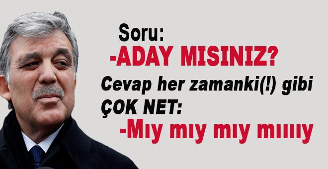 """Abdullah Gül, """"Aday mısınız?"""" sorusuna çok net(!) bir cevap verdi!"""