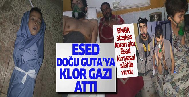 Esad  Doğu Guta'ya kimyasal silahla saldırdı!
