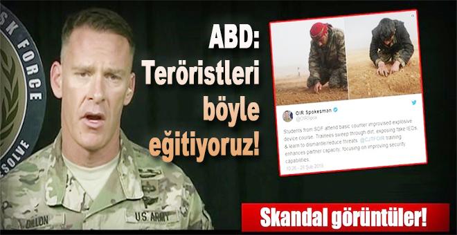 Teröristlere nasıl eğitim verdiklerini resmi hesaptan açıkladılar!