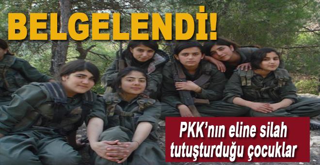 PKK'nın eline silah tutuşturduğu çocuklar!
