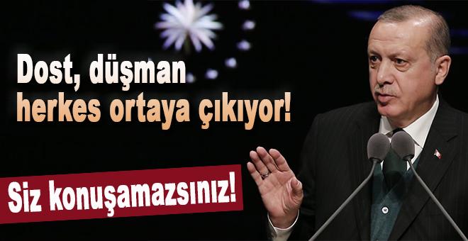 Erdoğan: Dost, düşman herkes ortaya çıkıyor!
