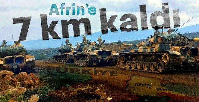 Emperyalist kuşatma yarılıyor; Afrin'e 7 kilometre kaldı!