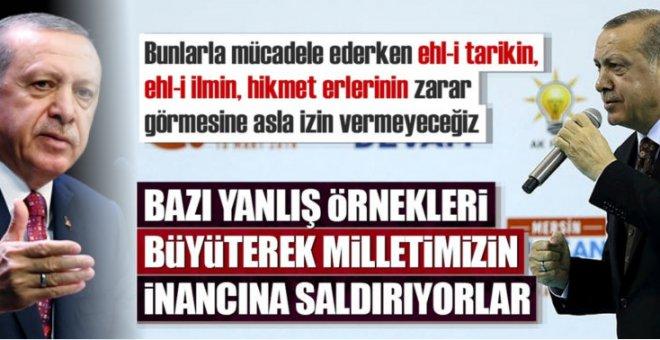 """Cumhurbaşkanı Erdoğan: """"Bazı yanlış örnekleri büyüterek milletimizin inancına saldırıyorlar!"""""""