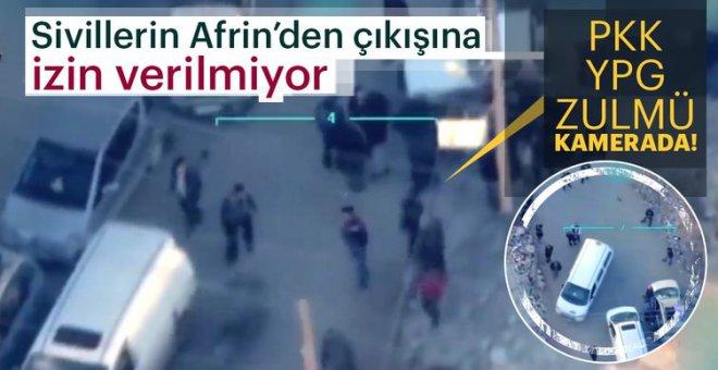 YPG, sivillerin Afrin'den ayrılmasını böyle engelliyor!