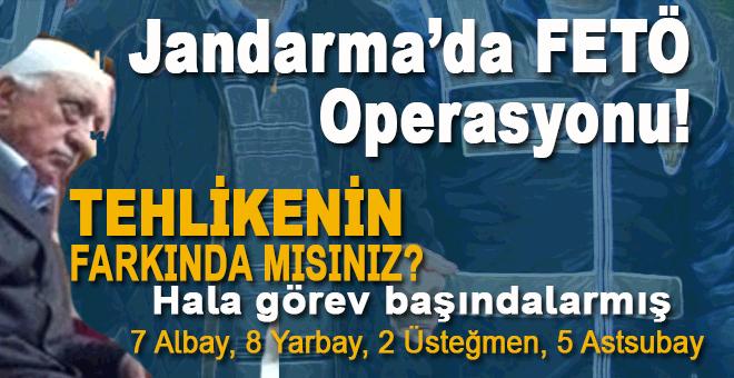 Jandarma'da FETÖ operasyonu!