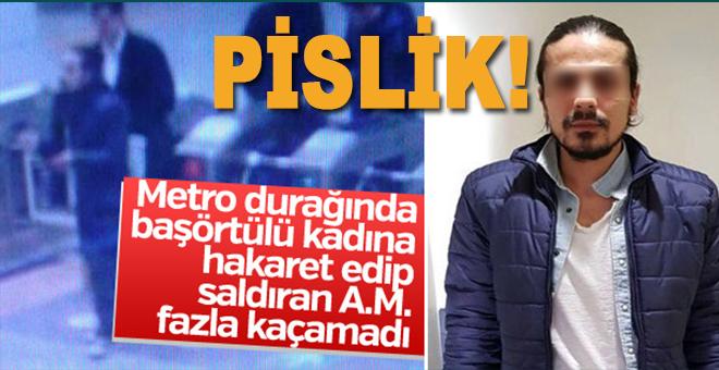 Kadıköy'de başörtülü kadına saldıran pislik yakalandı!