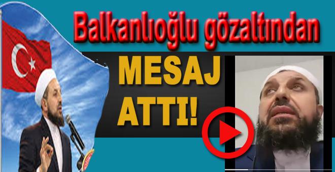 Abdülmetin Balkanlıoğlu gözaltına alındığı Bürüksel'den görüntülü mesaj attı!