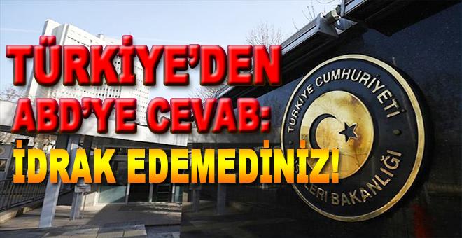 Türkiye, ABD'nin Afrin ve Menbiç'le ilgili yaptığı açıklamalara sert tepki gösterdi!