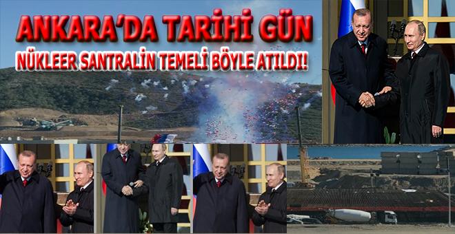 Akkuyu nükleer santralinin temeli Putin'in de katıldığı tarihi törenle atıldı!