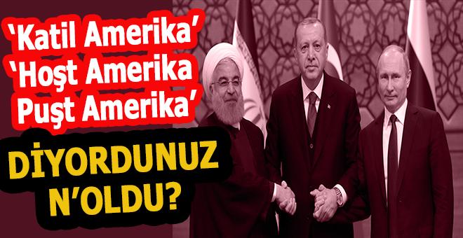 """""""Hoşt Amerika puşt Amerika"""" türküleri dinleyen, """"Tam bağımsız Türkiye"""" diyen başkaları mıydı yoksa?"""