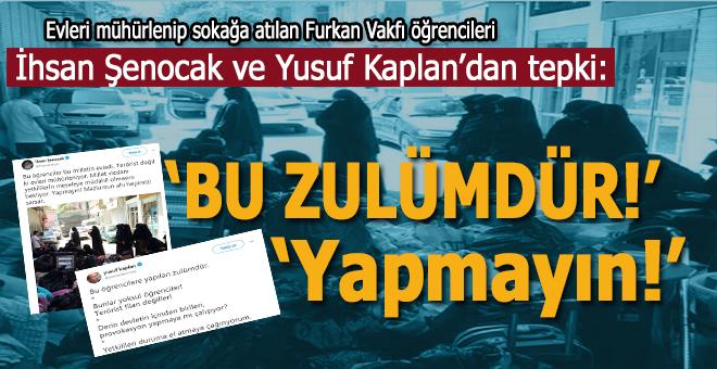 """İhsan Şenocak; """"Bu öğrenciler bu milletin evladı. Terörist değil ki evleri mühürleniyor!"""""""