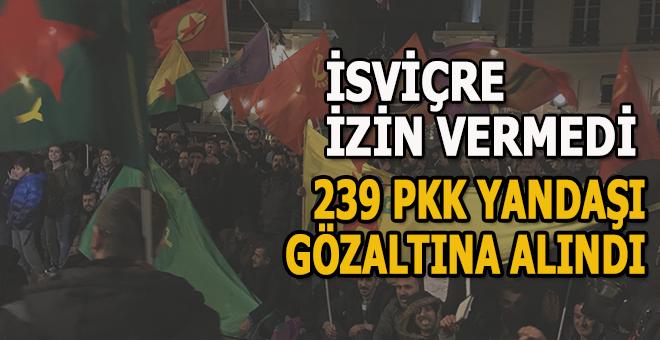 İsviçre PKK yandaşlarına göz açtırmadı!