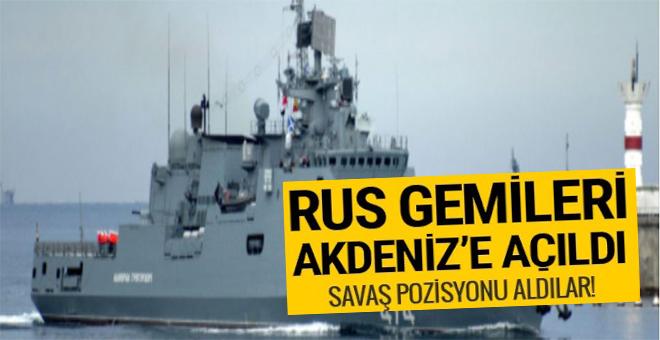 Rus gemileri Akdeniz'e açıldı!