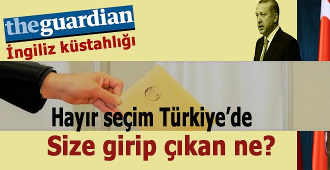 İngiliz Guardian'dan Erdoğan'a alçak sözler!