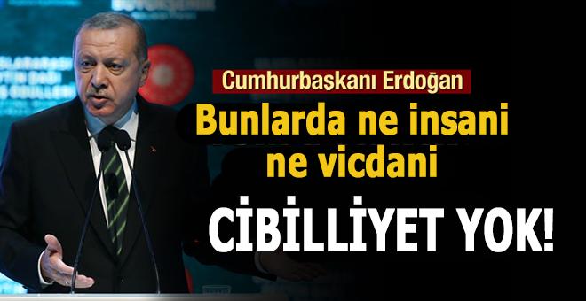 Cumhurbaşkanı Erdoğan; Bunlarda ne insani ne vicdani cibilliyet yok!