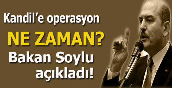 Kandil'e operasyon ne zaman; Bakan Soylu açıkladı!