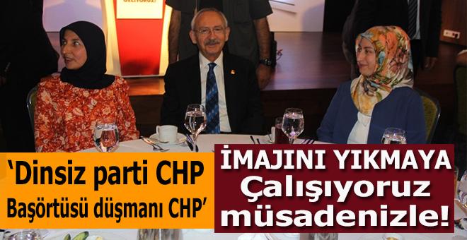 """""""Dinsiz parti, başörtüsü düşmanı CHP"""" imajını yıkmaya çalışıyoruz müsaadenizle!"""