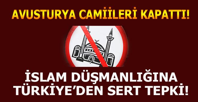 Avusturya'nın camileri kapatma kararına Türkiye'den sert tepki!