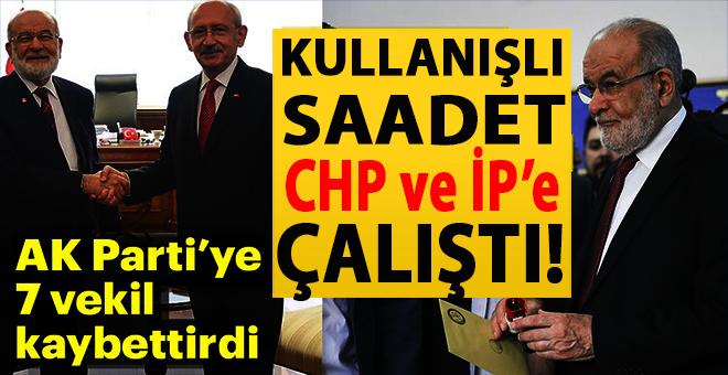 """""""Kullanışlı Saadet"""" CHP ve İP'e çalıştı!"""