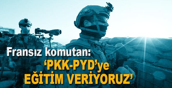 Fransız komutan: PYD/PKK'ya eğitim veriyoruz!