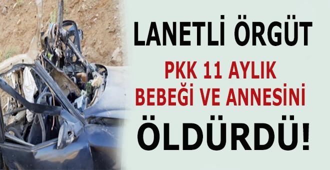 PKK, 11 Aylık bebeği ve annesini katletti!