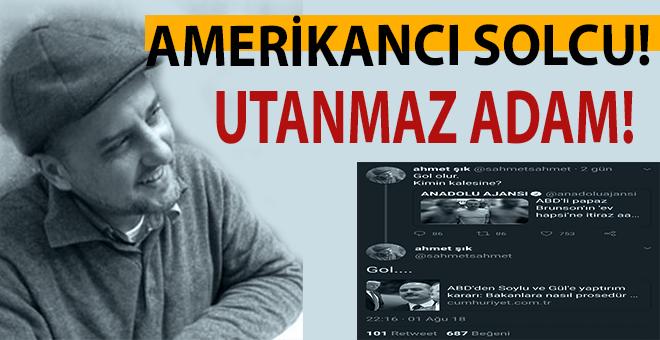 HDPKK'nın vekili Ahmet Şık, ABD zurnasıyla göbek atmaya başladı!