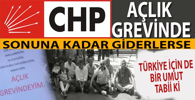 Kurultay isteyen CHP'liler CHP önünde açlık grevine başladı!