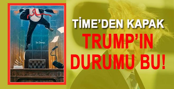 TIME Dergisi Trump'ın nasıl battığını kapağına taşıdı!