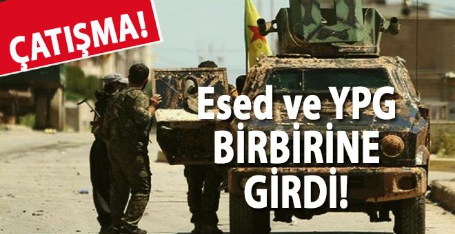 Esed güçleri ile YPG arasında çatışma çıktı!