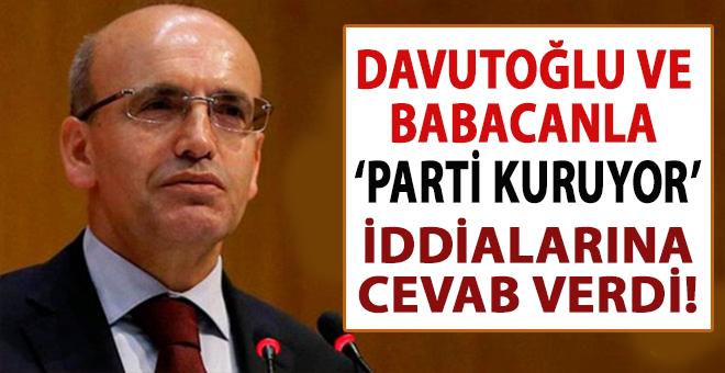 Şimşek'ten 'Davutoğlu ve Babacan'la parti kuruyorlar' iddiasına cevab!