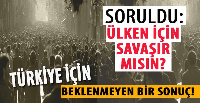 Soruldu; Ülken için savaşır mısın? Türkiye için hiç beklenmedik bir sonuç!
