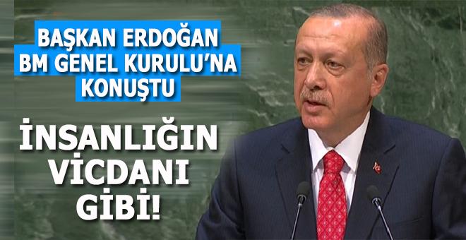 Başkan Erdoğan BM Genel Kurulu'nda bir kere daha insanlığın vicdanı oldu!