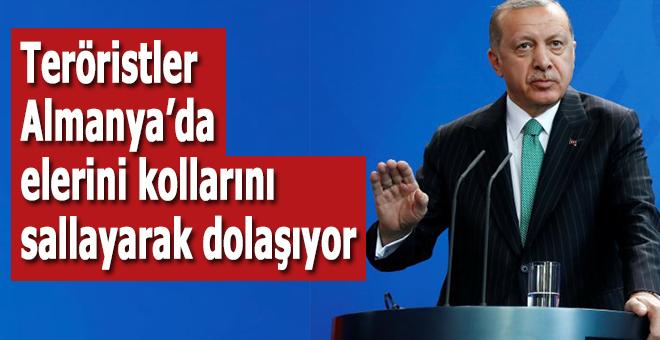Başkan Erdoğan: Teröristler Almaya'da ellerini-kollarını sallayarak dolaşıyor!