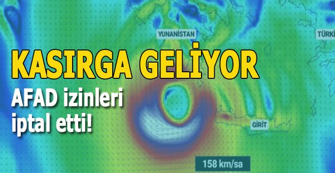 Kasırga yaklaşıyor, AFAD izinleri iptal etti!