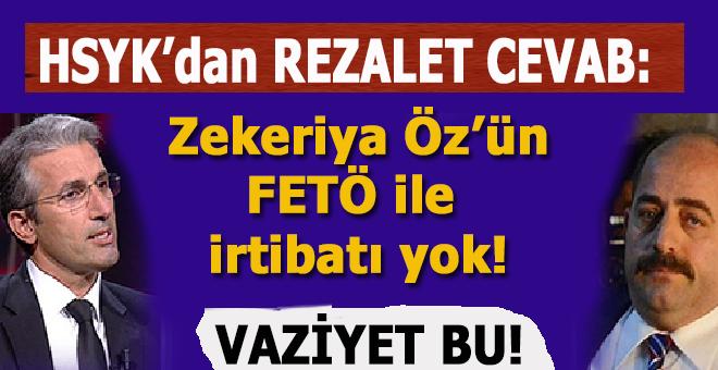 """HSK'dan Nedim Şener'e rezalet cevab: """"Zekeriya Öz'ün FETÖ ile irtibatı da yok!"""""""