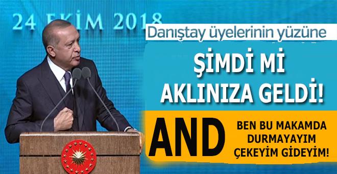 Erdoğan, Danıştay üyelerinin yüzüne söyledi; Şimdi mi aklınıza geldi!