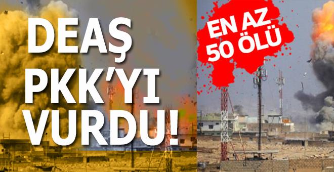 DEAŞ PKK'ya bombalı araçla vurdu; En az 50 ölü var!