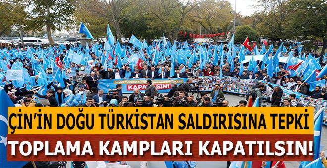 İstanbul'da Çin'in Doğu Türkistan politikalarına tepki!