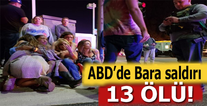 ABD'de bara silahlı saldırı; 13 ölü!