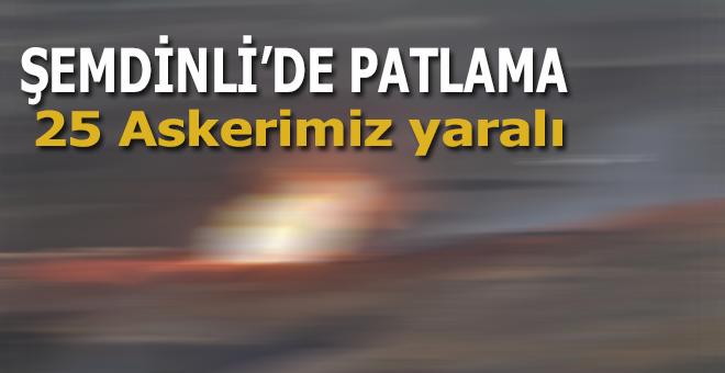 Şemdinli'de Mühimmat infilak etti; 25 Askerimiz yaralı!