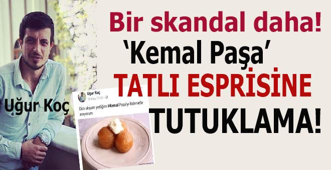 """Sosyal medyadan """"Kemal paşa"""" tatlılı espri yapan genç, Atatürk'e hakaretten tutuklandı!"""